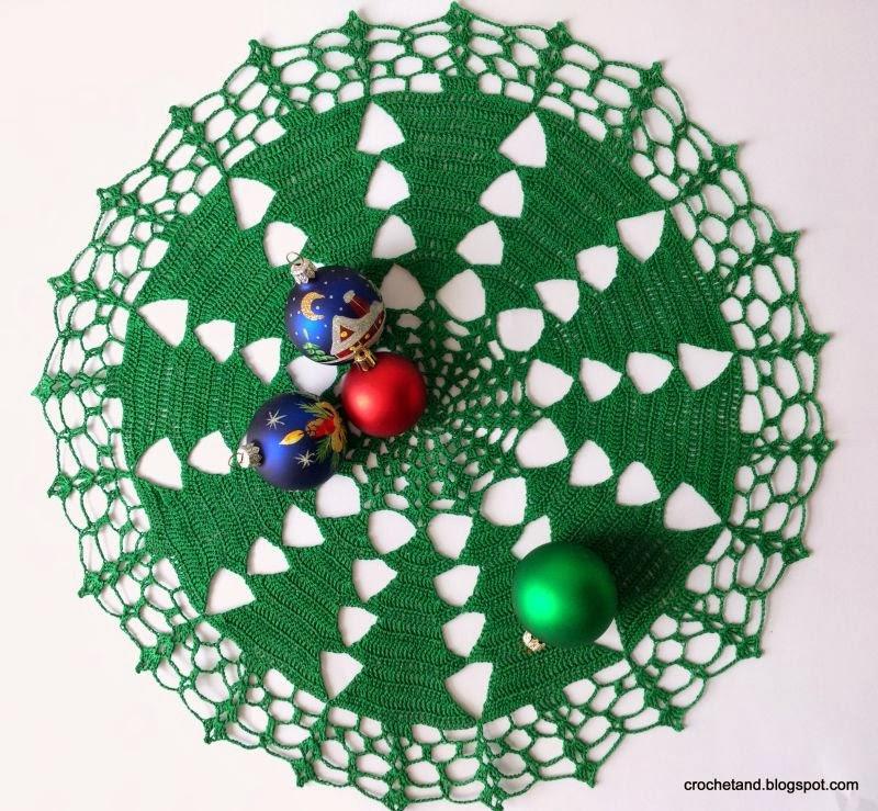 szydełkowa serweta Boże Narodzenie