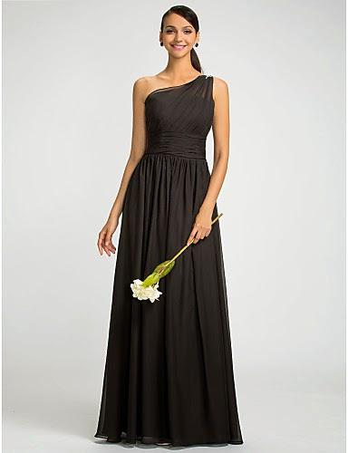 Vestido de Promoción Negro Un Tirante