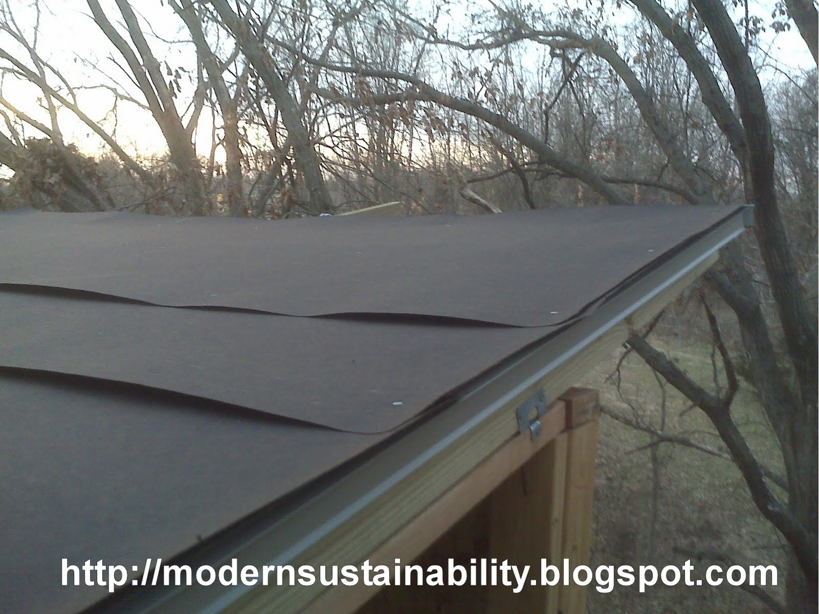 Tar Paper Roofs Tar Paper On A Bts Kit