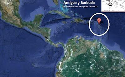 Mapa de Antigua y Barbuda