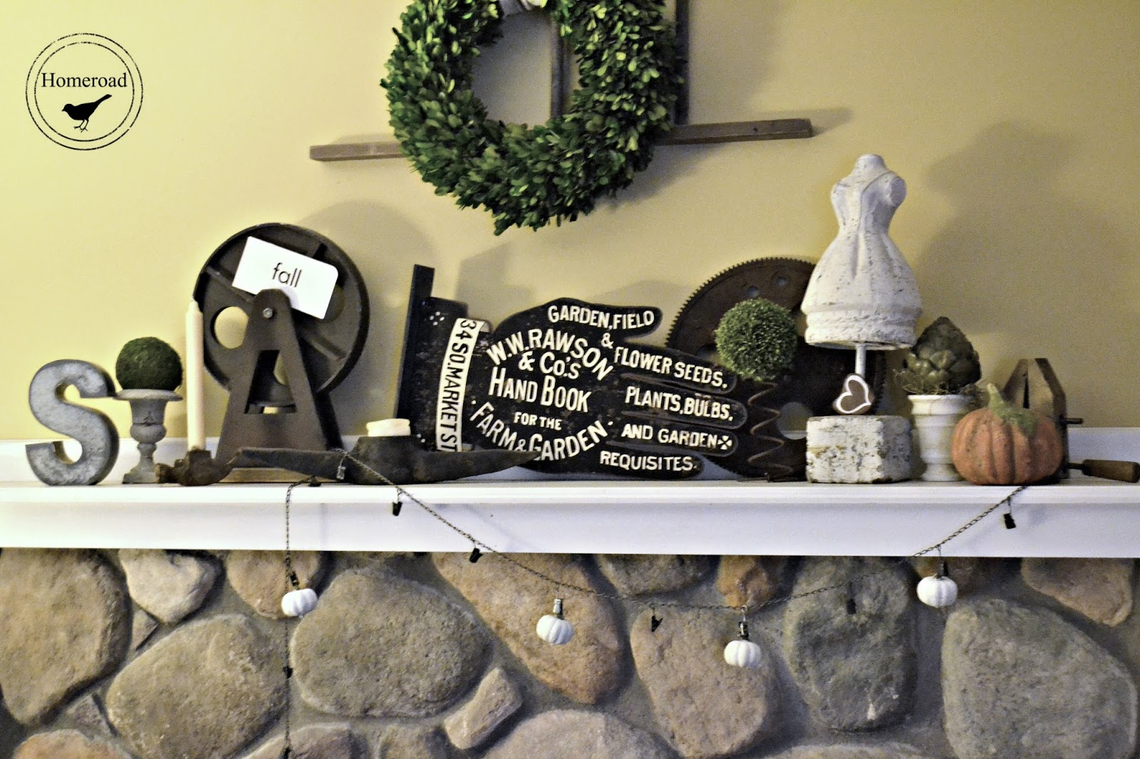 industrial mantel and chain banner www.homeroad.net