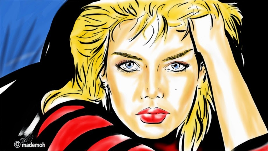 kim wilde cambodia portrait dessin couleur comics star. Black Bedroom Furniture Sets. Home Design Ideas