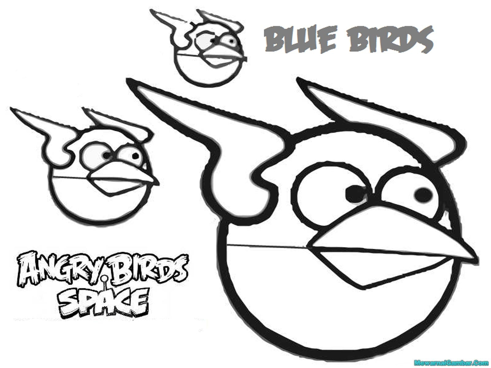 Angry Birds Space Terence Coloring Pages