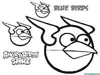 Mewarnai Angry Birds Space