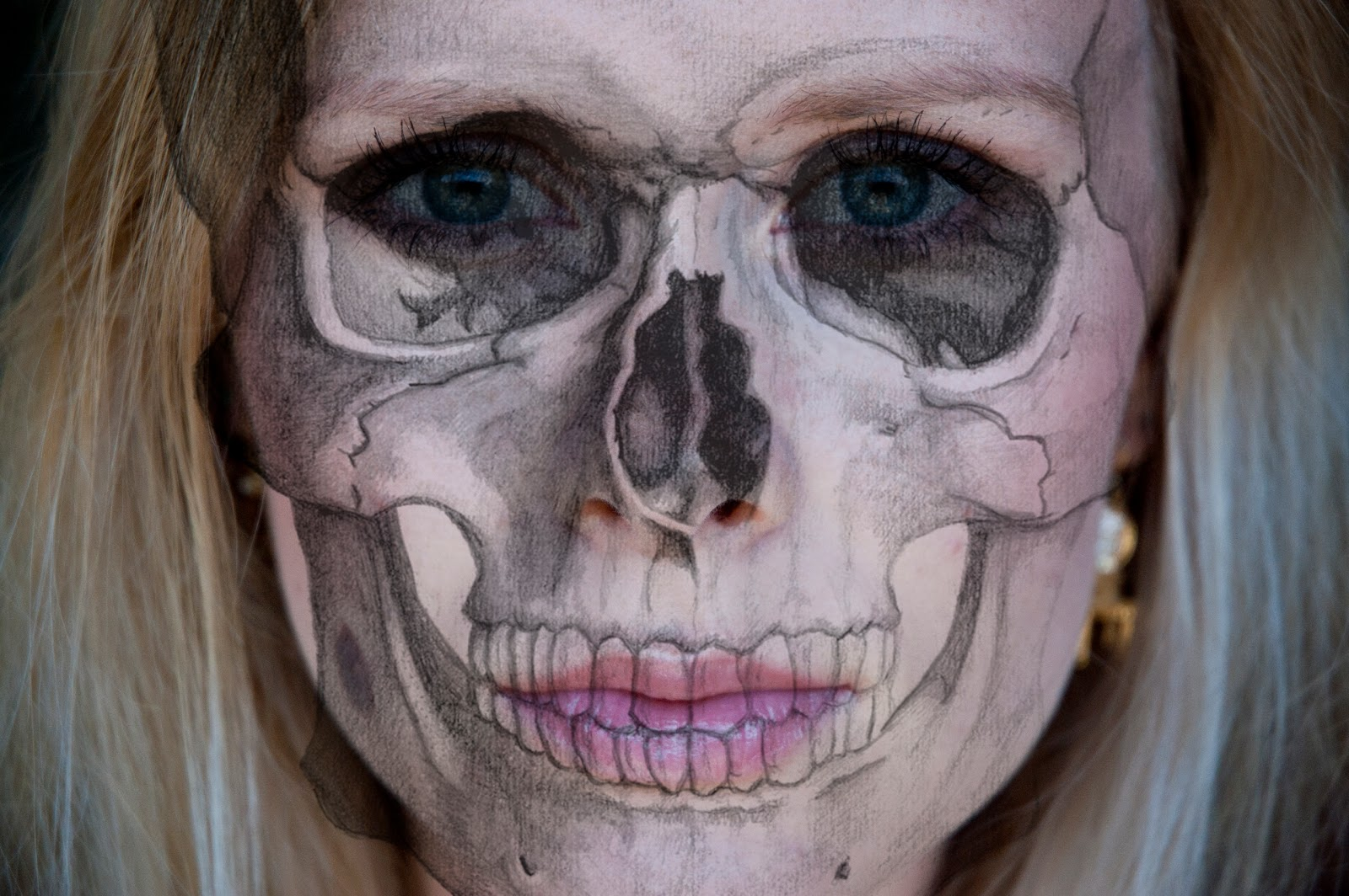 Beauty by Linde: HALLOWEEN SPECIAL - Realistic Skull Makeup