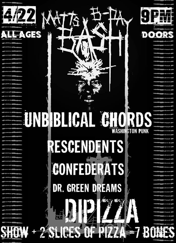 UNBIBLICAL CHORDS, RESCENDENTS, THE CONFEDERATS DR GREEN DREAMS