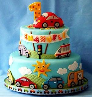 Kue ulang tahun pertama tema mobil buat anak