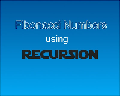 C++ program - Fibonacci numbers using recursion