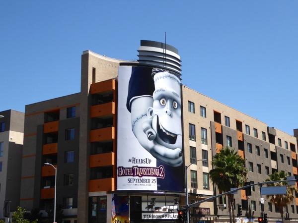 Hotel Transylvania 2 Frankenstein billboard