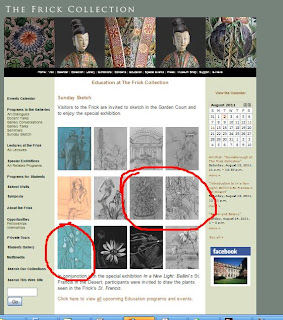 Schulman's botanical drawings on the Frick Museum's website