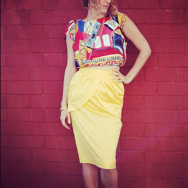Amen Wardy Unique Of Yellow Vintage Skirt Photos