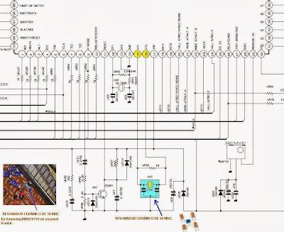 resonador cerámico en equipo de audio samsung max-SZ750