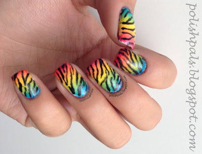 Rainbow Zebra Nails Tutorial