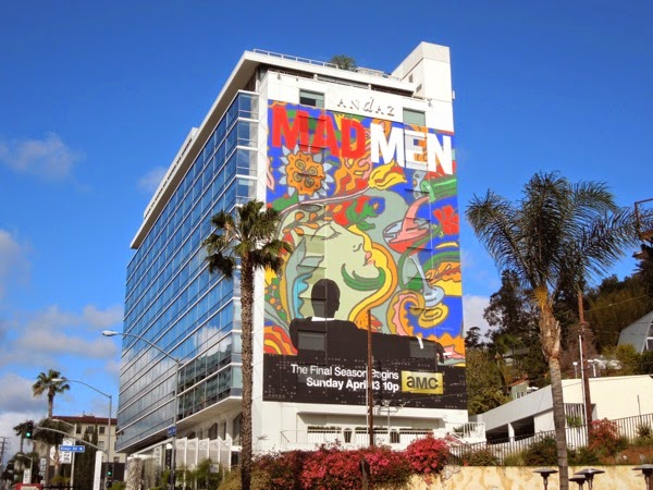 Giant Mad Men final season 7 billboard Sunset Strip