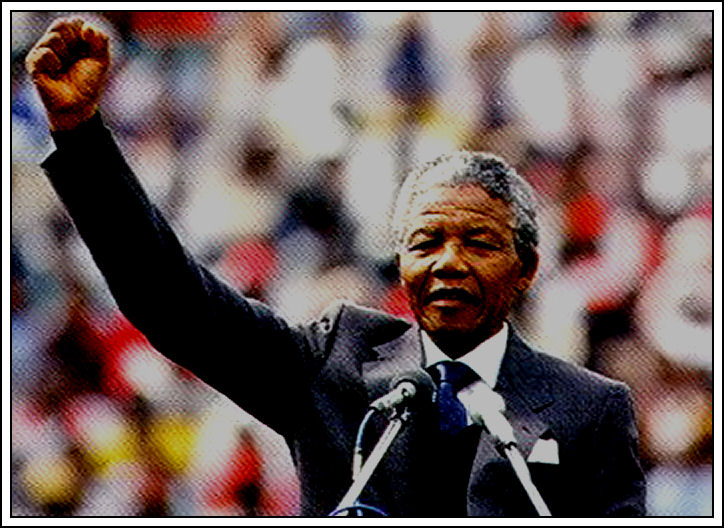 Nelson Mandela - Father of South Africa.
