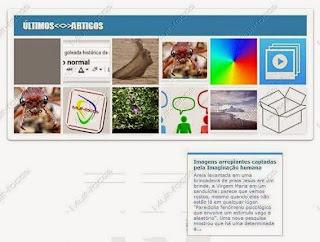 Widget de posts recentes com imagens e pop up de resumo