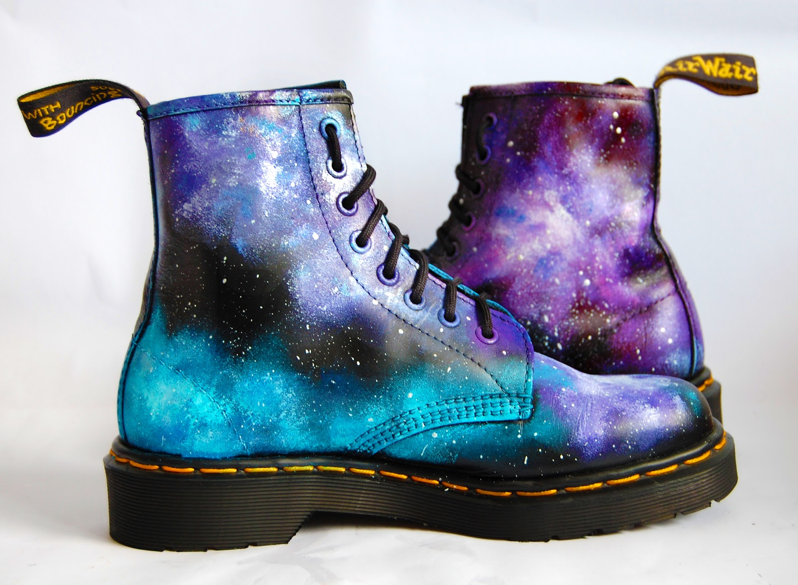 josefina f martinez galaxy print dr martens sale on etsy hand painted. Black Bedroom Furniture Sets. Home Design Ideas