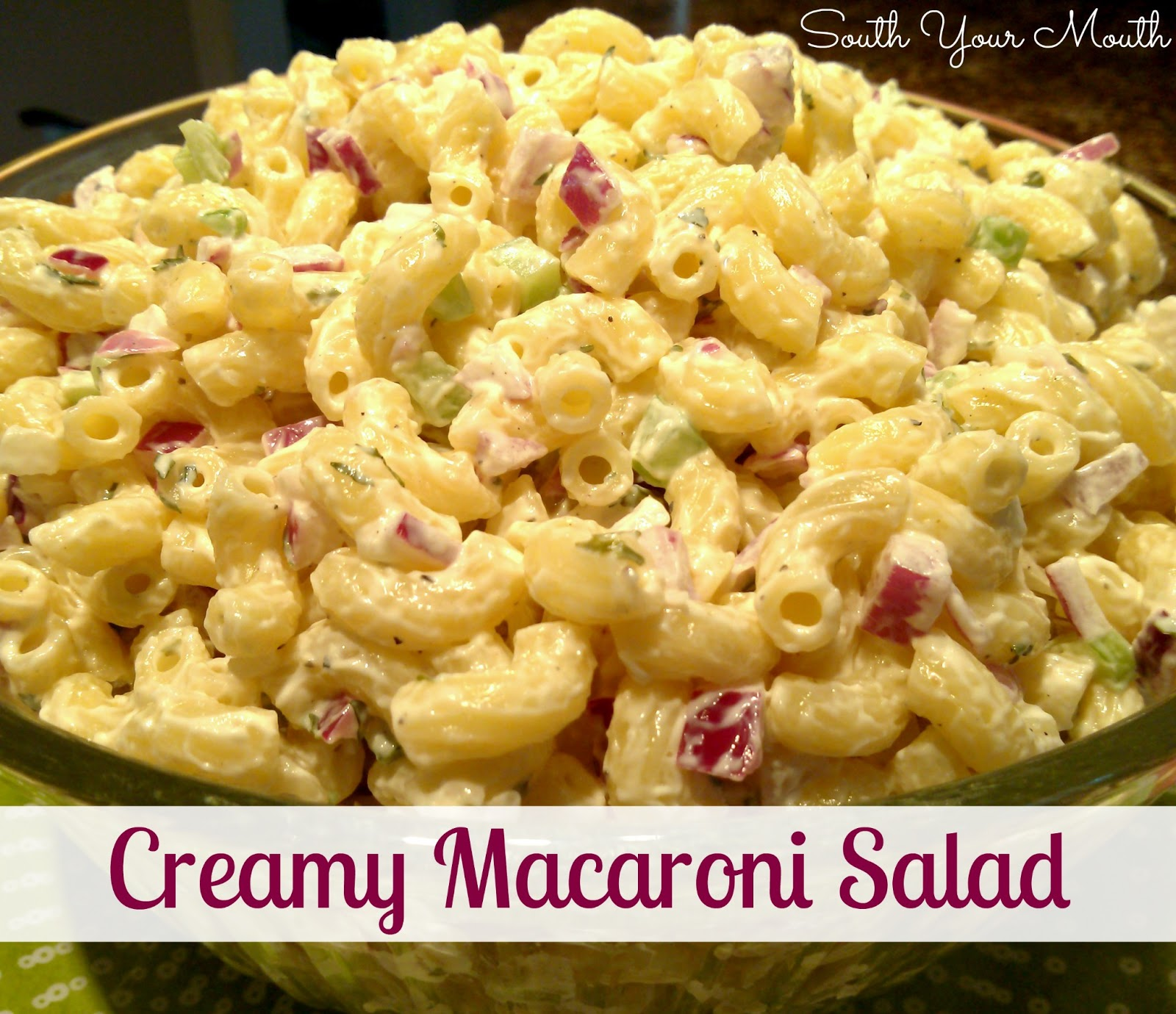 Easy Macaroni Salad Recipe Creamy macaroni salad