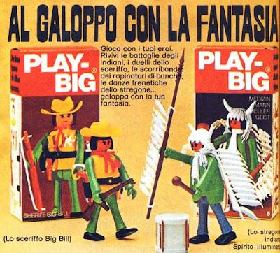 Pubblicità Topolino anno 1975 Play Big