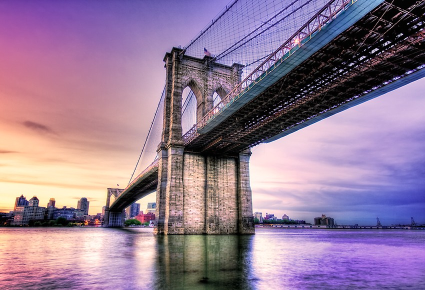 Art now and then the brooklyn bridge for World s coolest bridges