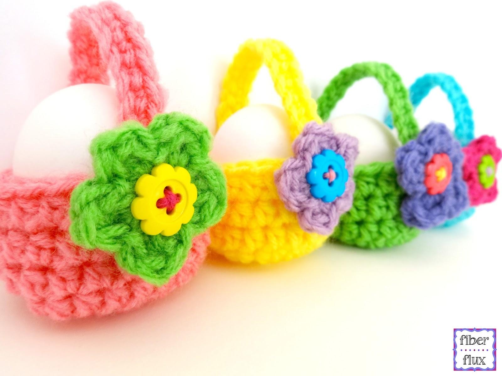 Crochet Egg Basket : Fiber Flux: Free Crochet Pattern...Little Egg Baskets!