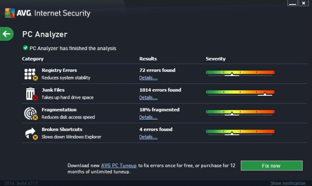 AVG Internet Security 2015 Scanning
