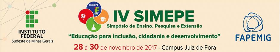 Simpósio de Ensino, Pesquisa e Extensão do IF Sudeste MG  - SIMEPE