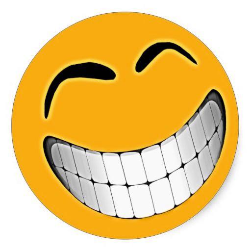 10 Happy Smileys Showing Teeth (Collection) | Smiley Symbol