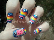 I've been wanting to try Nyan Cat nails for ages now