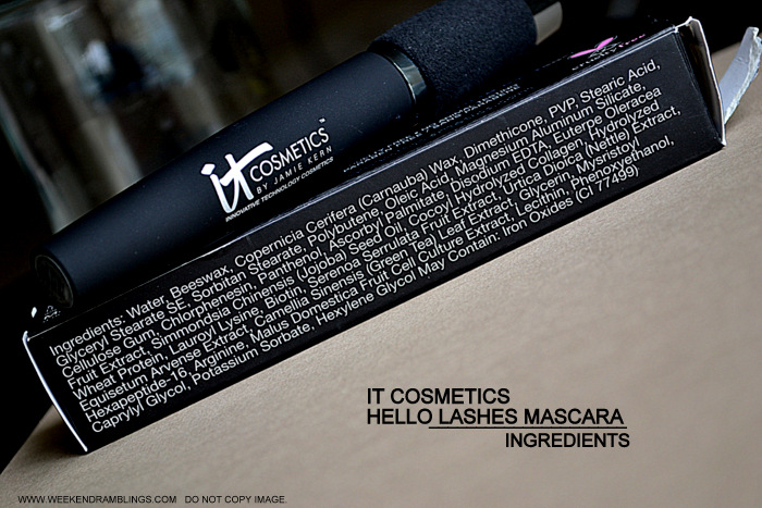 It Cosmetics Hello Lashes 5 in 1 Blackest Black Mascara Indian Beauty Makeup Blog Review Photos How To Use Apply Ingredients