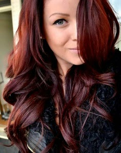Black Hair With Natural Red Highlights