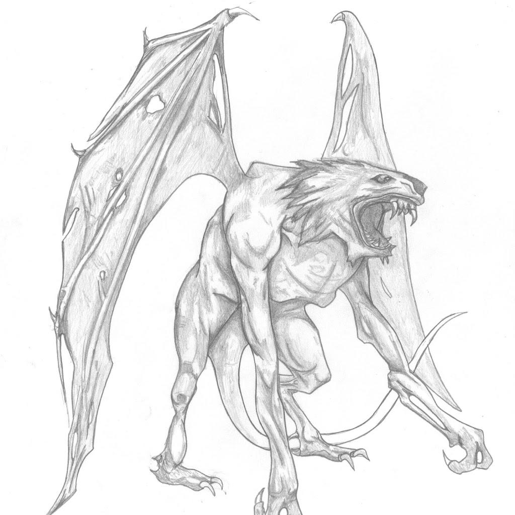 Demon Anime Drawings In Pencil