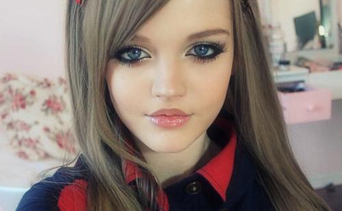 girl like barbie doll