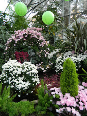 Allan Gardens Conservatory 2015 Chrysanthemum Show Leda and the Swan fountain by garden muses-not another Toronto gardening blog