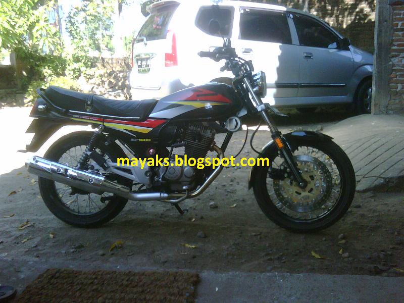 Foto Modifikasi Honda GL Pro Neotech Minimalis Knalpot Scorpio title=
