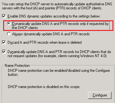 dhcp problems: