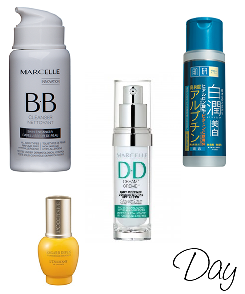 My daytime beauty routine products