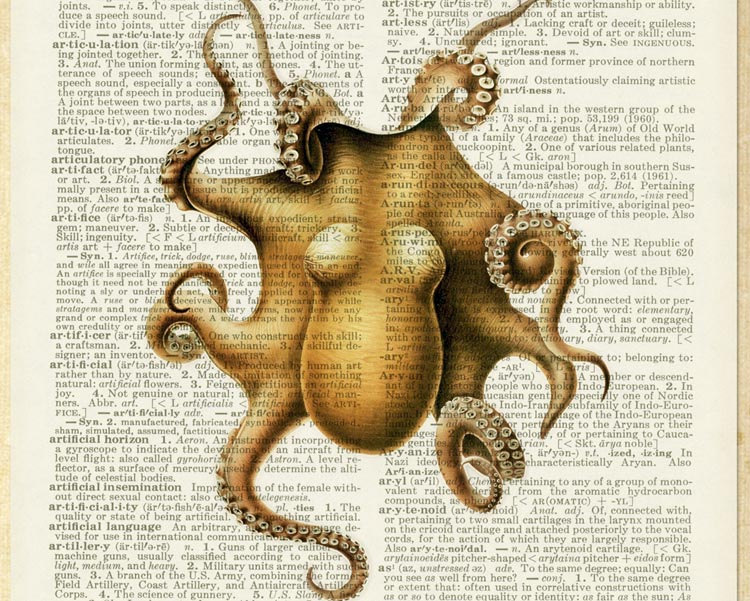 19-Octopus-Jean-Cody-Vintage-Dictionary-Page-Art-Prints-www-designstack-co