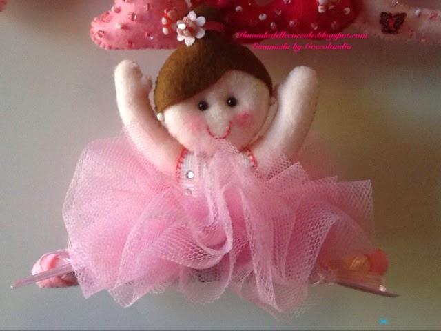 Ballerina,tutù, feltro, pannolenci .