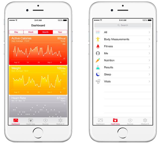 New Health App available with iOS 9.3