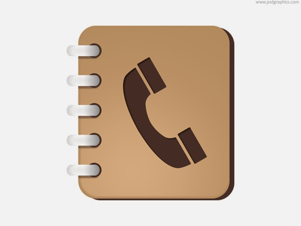 Phone Book Icon PSD