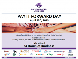 Pay it forward day is a random-acts-of-kindness marathon
