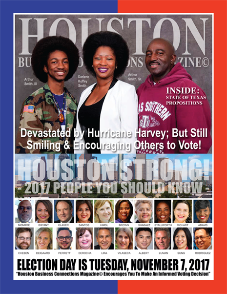 VOTE TUESDAY, NOVEMBER 7, 2017 EDITION OF HBC MAGAZINE© FEATURING ARTHUR J. SMITH, JR