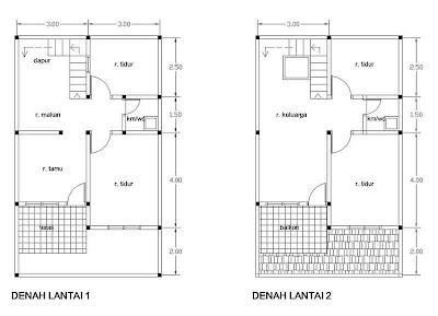 Gambar Denah Rumah Sederhana KPR -05