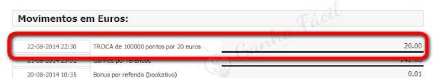 movimentos euros publipt dinheiro ganha ganhar fácil troca pontos