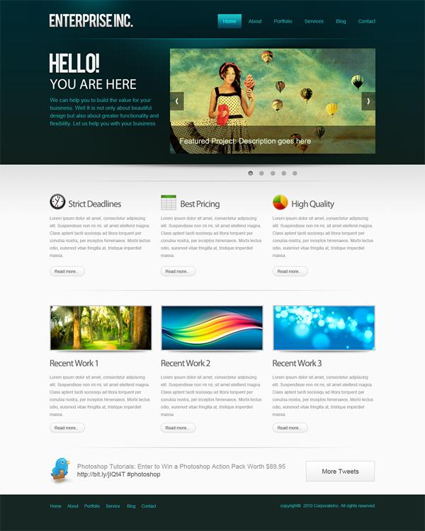 Дизайн для сайта на фотошопе