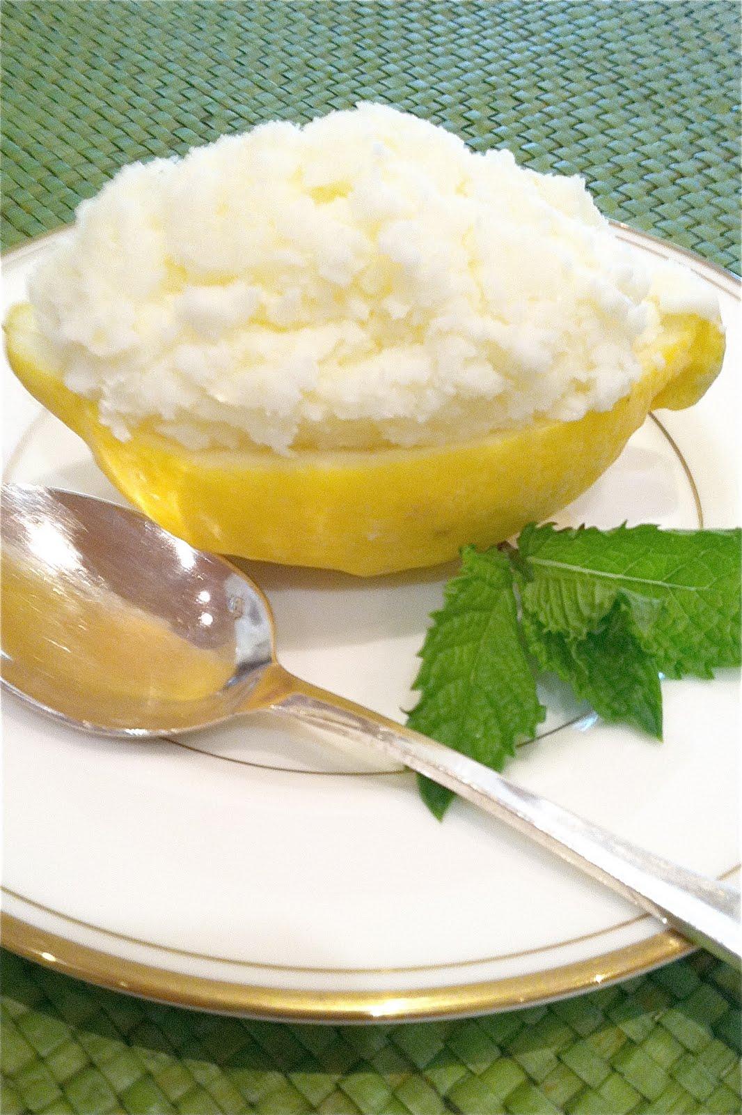 Lemon Sorbet Cups