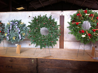 Christmas Wreath judging