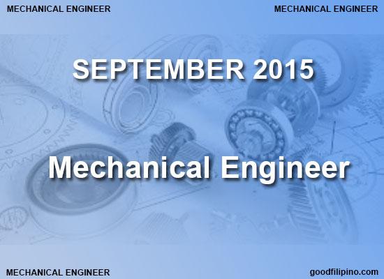 PRC Mechanical Engineer Board Exam Results (September 2015)
