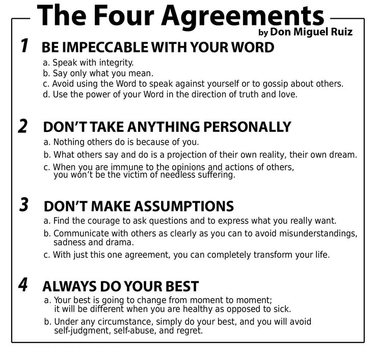 The four agreement by Don miguel ruiz